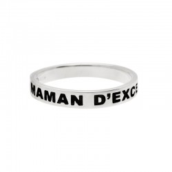 "Bague Doriane - bague message Argent ""Maman d'exception"""