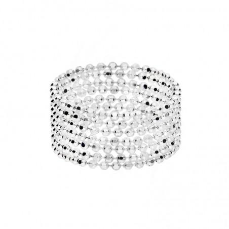 Bague en argent lot de 7 anneaux libres - Chaînes boules souples