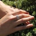 Bague en argent DORIANE lot de 7 anneaux souples indépendants les uns des autres