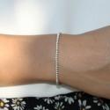 Bracelet boules élastique en argent 925/1000 Doriane Bijoux diamètre 2,5 mm