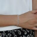 Bracelet multi tours élastiqué Cuddle - Tubes & Perles en argent
