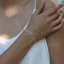 Bracelet élastique double rangs en argent CUDDLE