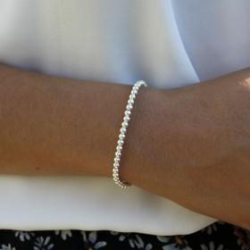 Bracelet boules élastique en argent 925/1000 le classique