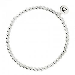 Bracelet élastique Boules - Perles en argent 925/1000 diamètre 3,5 mm