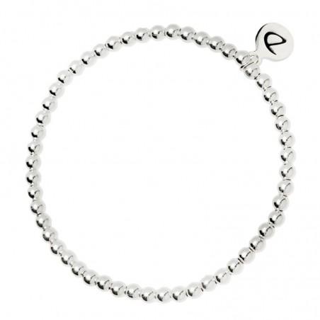 Bracelet élastique Boules - Perles en argent 925/1000 - 3,5 mm