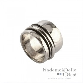 Bague THEMA - bague Large Argent - L'INTEMPORELLE