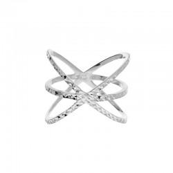 Bague Doriane - bague ellipses en argent ciselé effet diamanté - Absolutely