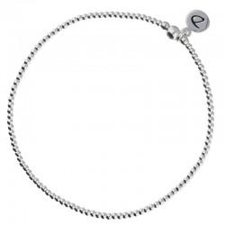 Chevillère élastiqué MINIBOULE en argent - Petites perles DORIANE Bijoux