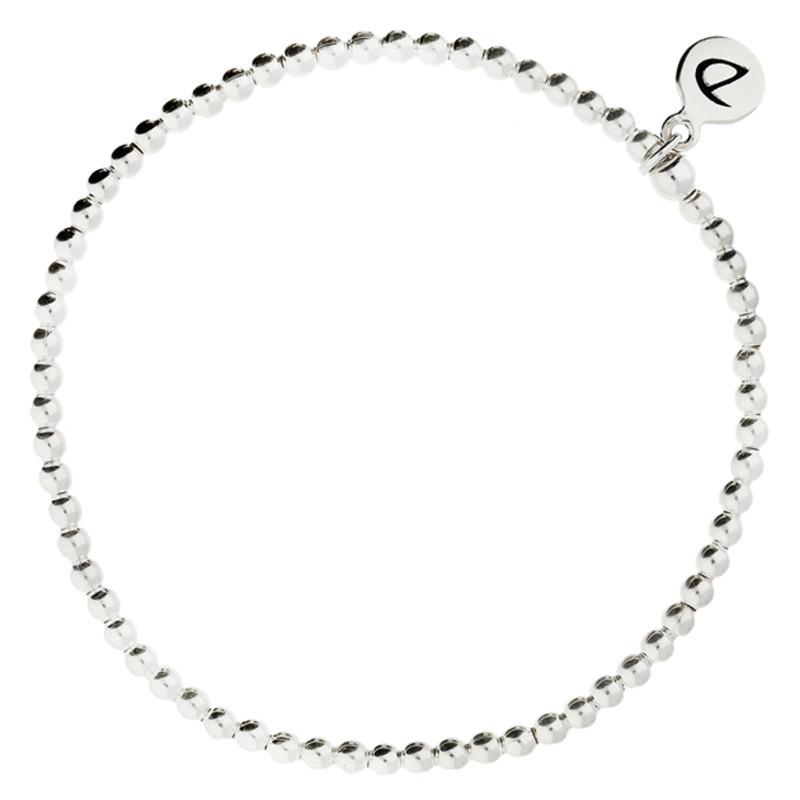 Bracelet de Chevilles élastique en argent - Enfilade de boules