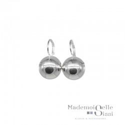 Boucles d'oreilles sur dormeuses Doriane - boule argent 925 diamètre 10 mm