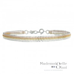 Bracelet multi rangs - Chaînes Argent or jaune Or rose 5 rangs - YUNA