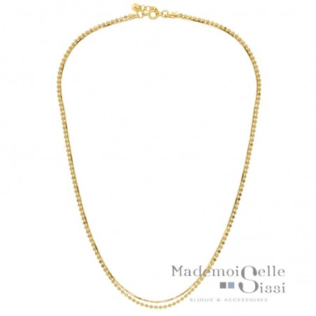 Collier court multi-rangs Victoria - Chaînes Or jaune