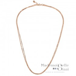 Collier court multi rangs Victoria - Chaînes Or rose