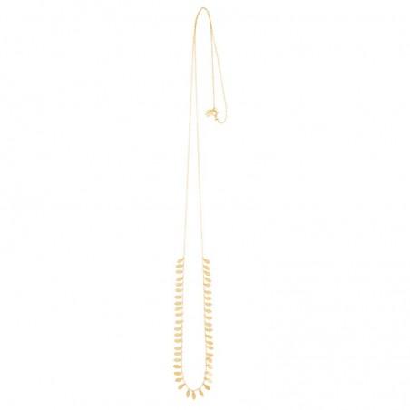 Collier sautoir chaîne fine & Pampilles dorées