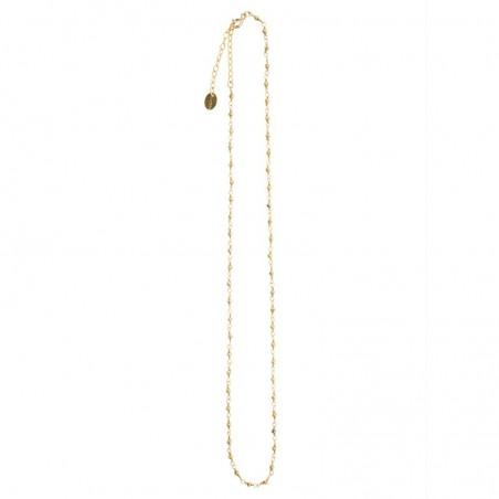 Collier court chaîne fine & Pyrites dorées