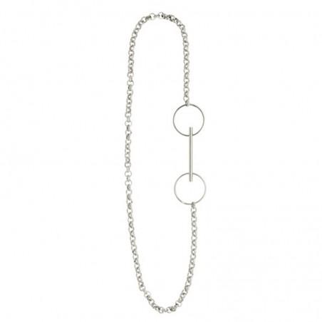 Collier sautoir chaîne en argent & Pendentif Licol Design