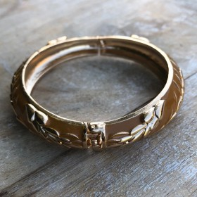 Bracelet Jonc Amok Doré - fermoir ressort