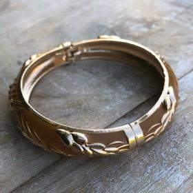 Bracelet Jonc Amok Doré - ouverture facile