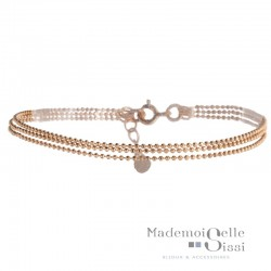 Bracelet multi rangs Colette - Chaînes Or rose - YUNA