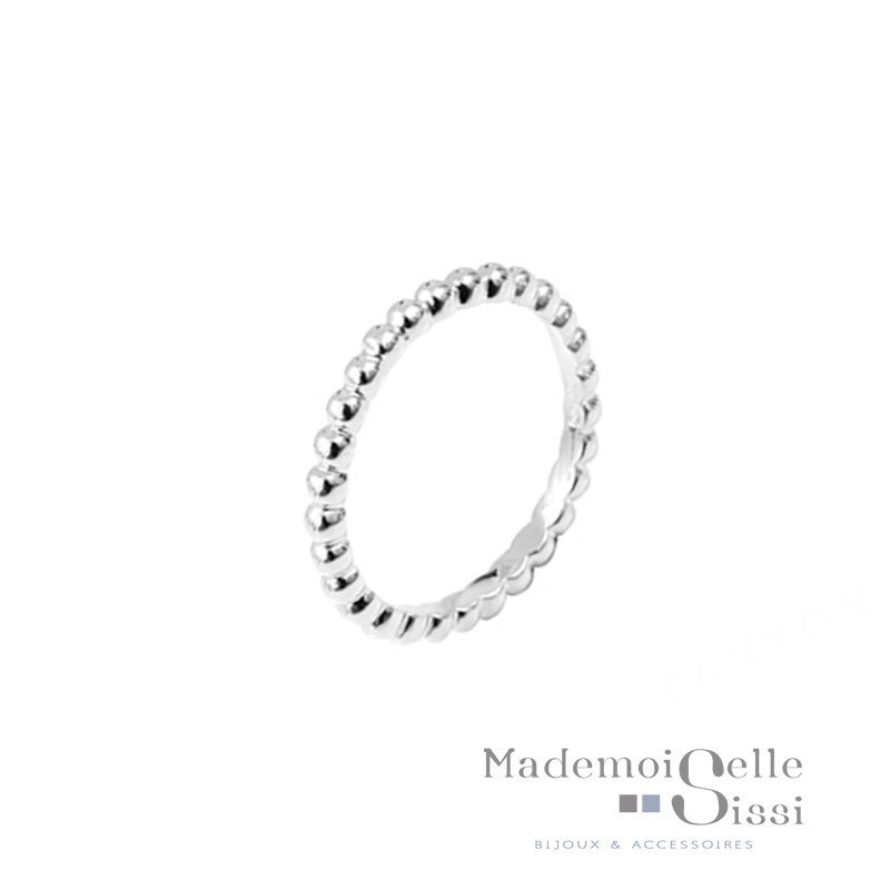 nouveau design Prix 50% publier des informations sur Bague anneau ciselé en argent Onyx noir et perles blanches TAILLE 54