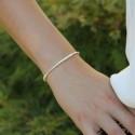 Bracelet élastiqué Basic argent 925/1000 - Boules & tubes