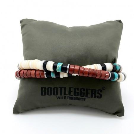 Bracelet multi-tours homme ROLLING - Perles Heishi multicolores