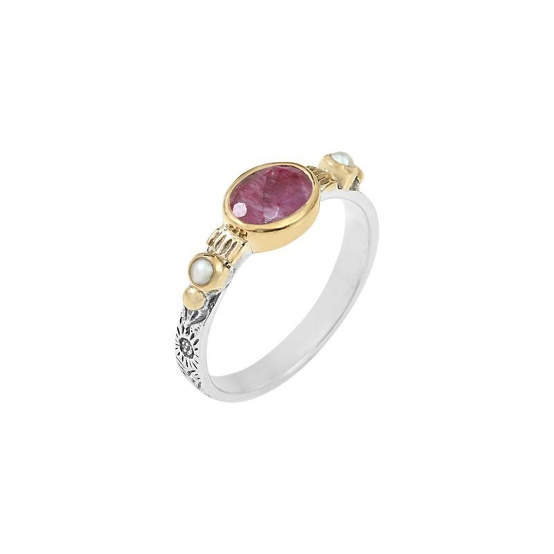 100% authentique choisir authentique joli design Bague anneau ciselé en argent Onyx noir et perles blanches