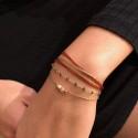 Bracelet multi tours Eva - Liens & Perles Orange doré