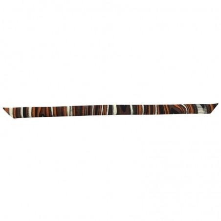 Bracelet à nouer - Ruban de soie camel noir & blanc - 2 cm