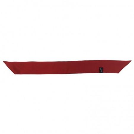 Bracelet à nouer - Ruban de soie Rouge Ketchup - 4 cm