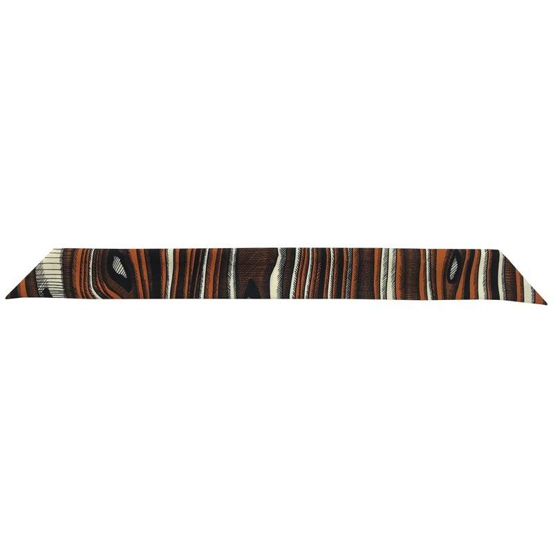 Bracelet à nouer - Ruban de soie Camel & noir - 4 cm