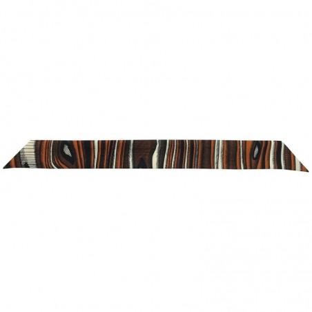 Bracelet à nouer - Ruban de soie Camel Noir & Blanc - 4 cm