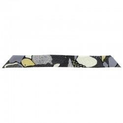 Bracelet à nouer - Ruban de soie Noir Gris & Jaune - 4 cm