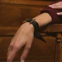 Bracelet manchette à nouer - Ruban de soie Vert & noir