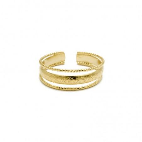 Bague ajustable Or stylisée & Triple anneaux design