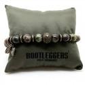 Bracelet homme SONORA - Jaspes Rouge verte & Perle étoiles bronze