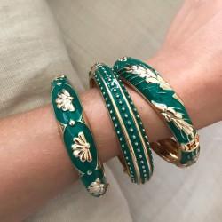 Ambiance bracelets joncs Argelouse Vert sapin