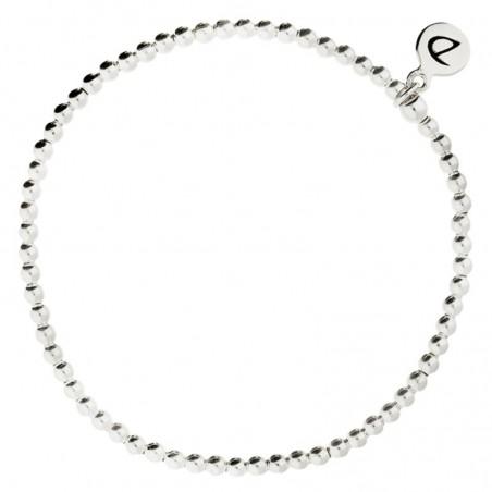 Bracelet élastiqué en Argent Le Classique - Boules 2,5 mm
