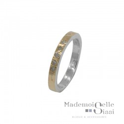 Bague THEMA - Bague anneau Argent - Alliance Or & Diamants - LA FIDELE