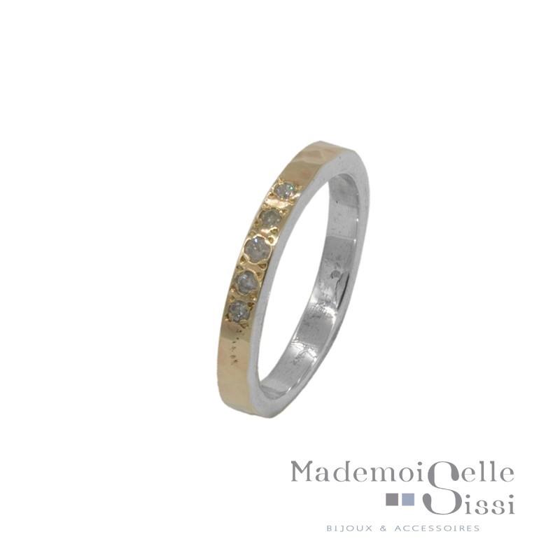 Bague anneau Argent - Alliance Or & Diamants - LA FIDELE