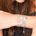 Bracelet multi tours Argent - Chaîne & Maillon Gourmette
