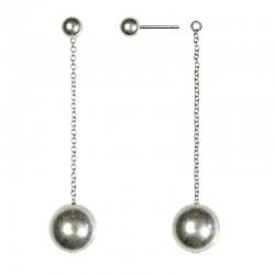 Boucles d'oreilles Chaînes Argent - Pendantes & boules rondes