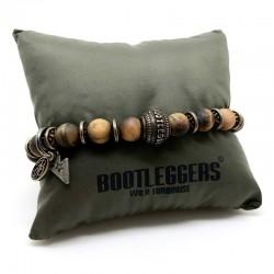 Bracelet homme BOOTLEGGERS SONORA TIGER EYES - Oeil de tigre & perle étoilée