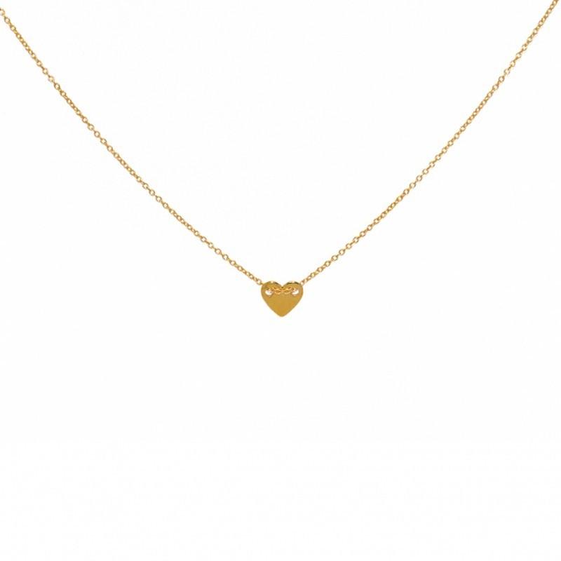 Collier court chaîne dorée & Pendentif Coeur