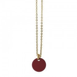 Lovely Day Bijoux - Colier choker Or Colors - Médaille ronde rouge