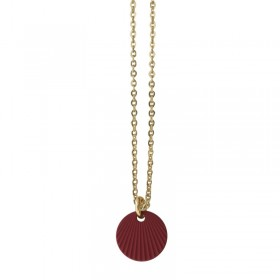 Colier choker Or Colors - Médaille ronde rouge