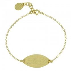 Bracelet Or ISIS - Bracelet chaîne & Losange hyéroglyphes égyptiens - Pluie d'Etoiles bijoux