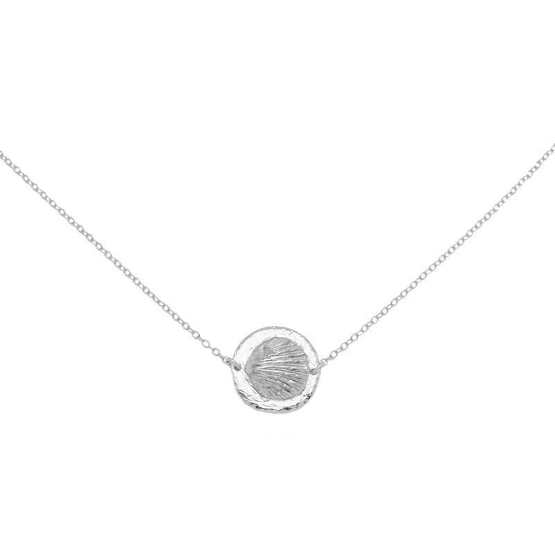 Collier Argent PALOMA - Collier chaîne & Médaille coquille design - Pluie d'Etoiles bijoux