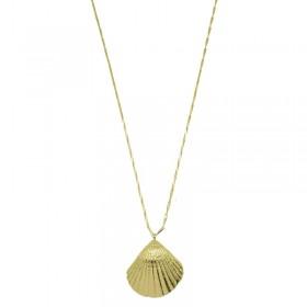 Collier sautoir Or PALOMA - Sautoir chaîne diamantée & Pendentif coque - Pluie d'Etoiles bijoux