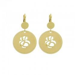 Boucles d'oreilles VOLUPTE Or - Pendants & Décor volutes évidées - Pluie d'Etoiles bijoux